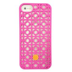 Tory Burch iPhone 5 Silicone Case Kelsey Perforated Pink