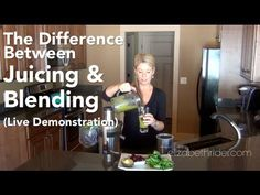 The Difference Between Juicing & Blending  Head on over to http://www.elizabethrider.com and subscribe to my email list for exclusive free content including healthy recipes, cooking classes and wellness advice that actually works. See you there!