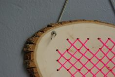 Oleander and Palm: Cross Stitch Heart in Wood