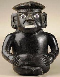 ancient peruvian pottery | Pottery; Pre-Columbian, Peru, Vessel, Stirrup-Spout, Blackware, Seated ... Ancient Peruvian, Peruvian Art, Inca, Medieval Art, Ancient Artifacts, American Art, Archaeology, Nepal, Mexico