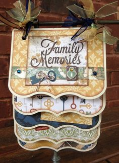 Cascading Album by Traci Penrod using Echo Park's Reflections collection and cutting files designed by Lori Whitlock.