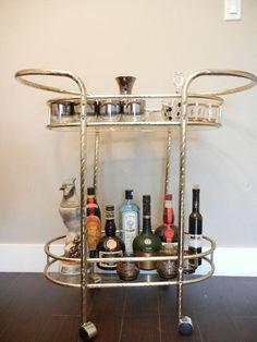 1950s bar cart