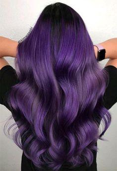 haar tips 63 Purple Hair Color Ideas to Swoon Over: Violet amp; Purple Hair Dye Tips Dark Purple Hair Color, Dyed Hair Purple, Ombre Hair Color, Raven Hair Color, Long Purple Hair, Purple Tips, All Things Purple, Dyed Tips, Hair Dye Tips