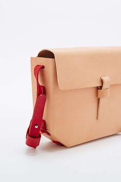 Kate Sheridan Hex Bag in Nude and Red