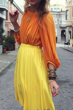 pleats and color combo