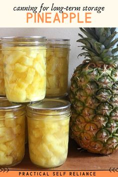 Home Canning Recipes, Canning Tips, Freezing Vegetables, Fruits And Veggies, Canning Pineapple, Canned Food Storage, Preserving Food, Dose, Diy Food