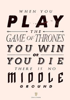 play the game of thrones | nadine ballantyne  At some point I need to change the GoT font, it bugs me.