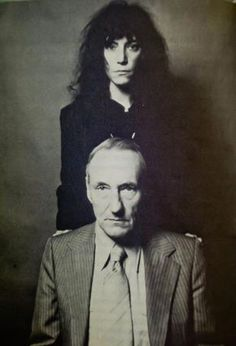 Patti Smith & William Burroughs by Robert Mapplethorpe