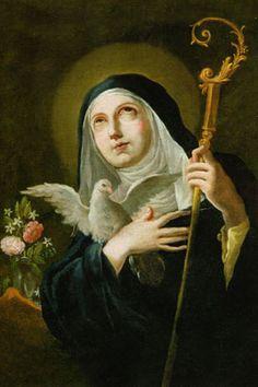 St.-Scholastica, tweelingzus sint benedictus, liggen beide begraven in montecassino, patrones epileptische kinderen en nonnen