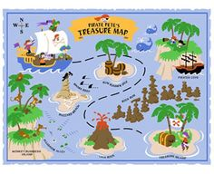 Pirate Pete's Treasure Map Mural-Paint By Number Children's Mural