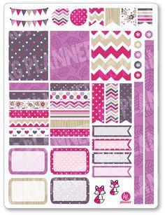 Fox rosa decoración Kit / extensión semanal por PlannerPenny