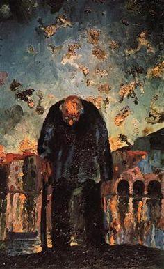 Crepuscular Old Man, Salvador Dali 1917-1918