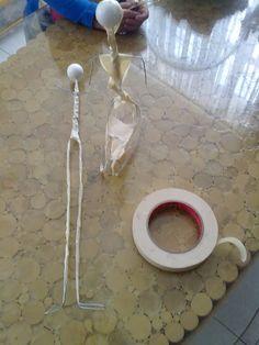 Africana en papel mache