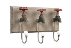 Iron Wall Plaque w/ 3 Faucet Hooks on OneKingsLane.com