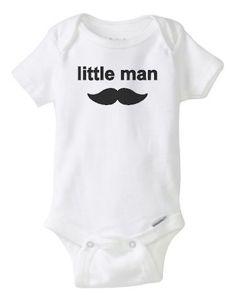baby boy onesie, little man, baby boy, onesie, mustache