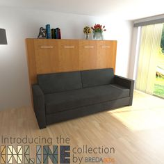 Horizontal InLine Murphy Bed and InLine Sofa by BredaBeds