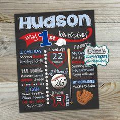 He encontrado este interesante anuncio de Etsy en https://www.etsy.com/es/listing/287420997/baseball-birthday-chalkboard-first