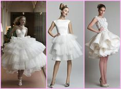 vestido de noiva curto saia camadas