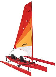 Hobie Mirage Tandem Island Sailing Tandem Kayak Sailing has never seemed so simple. When the wind blows, the Tandem Island flies across the water, powered by an expansive, easily tended mainsail. With dual M Hobie Mirage, Santa Claus Is Coming To Town, Catamaran, Tandem, Hibiscus, Kayaking, Sailing, Sailboats, Islands