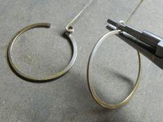 Gypsy Girl Hoop Spring Lever Back Ear Wire | Wild Prairie Silver  #Wire #Jewelry #Tutorials