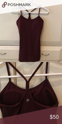 Lululemon Maroon Workout Top Size 6 not worn much at all still perfect with no flaws lululemon athletica Tops Tank Tops