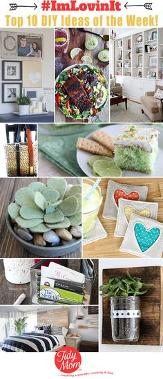 The Top 10 Bright DIY Ideas of the week #ImLovinIt at TidyMom.net crafts, recipes, and home decor.