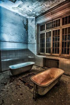 Abandoned psychiatric hospital in Cogoleto Liguria, Italy.
