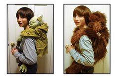 yoda / chewie backpack :S