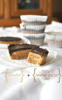 no-bake caramel reese's peanut butter cups | Chow Creations