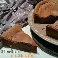 La meilleure recette de THERMOMIX: Fluffy with Nutella . tueur pur et simple . Nutella Cupcakes, Nutella Muffins, Fluffy Chocolate Cake, Chocolate Fondant, Cooking Chef, Cooking Recipes, Dessert Thermomix, Nutella Mousse, No Cook Desserts