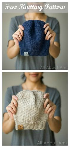 The Dot Stitch Beanie Hat Free Knitting Pattern intersperses purl stitches among knit stitches for some gorgeous texture.Knitting models, which … Beanie Knitting Patterns Free, Beginner Knitting Patterns, Knitting For Beginners, Knitting Stitches, Free Knitting, Knitting Projects, Baby Knitting, Crochet Patterns, Knit Beanie Pattern