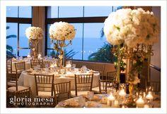 White wedding and candles #BelAirBayClub #weddings  #RicardoLunaandGardens