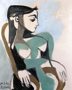 Pablo Picasso - Woman in an Armchair, 1956
