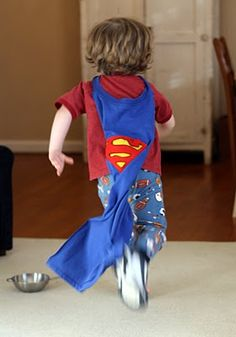 Superman party - a cape for the birthday boy