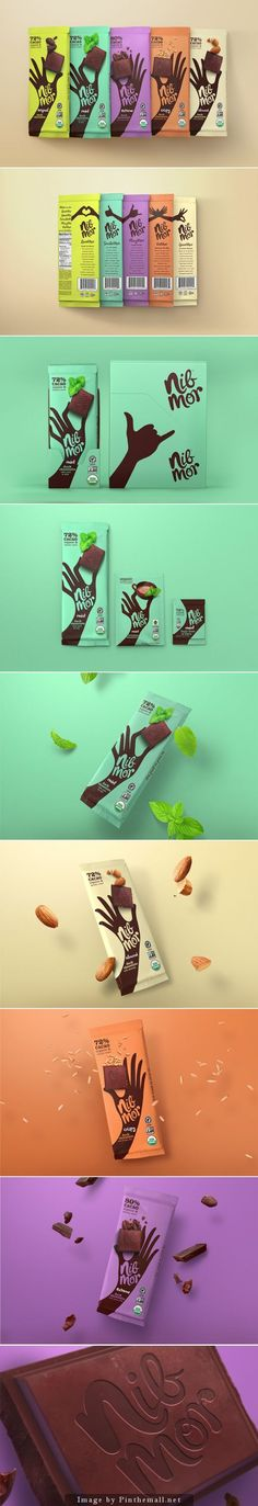 NibMor | chocolate food packaging design
