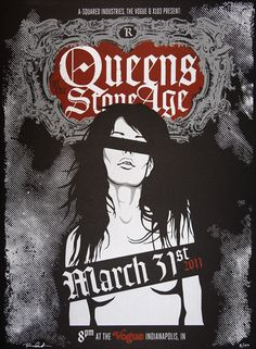 Queens Of The Stone Age. Poster by Aaron Scamihorn
