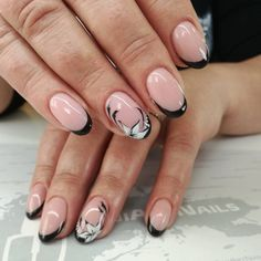 120+ Oval shaped French tip nails 2018