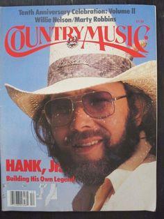 "Hank Jr's ""Country Music"" magazine 1981"