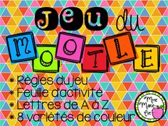Browse over 10 educational resources created by Mme Marie Eve in the official Teachers Pay Teachers store. Boggle, French Resources, Teaching French, Rose Mauve, Word Work, Jaune Orange, New Job, Teacher Pay Teachers, Alphabet