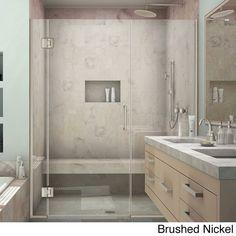 DreamLine Unidoor-X 50.5 - 51 in. W x 72 in. H Hinged Shower Door (Brushed Nickel), Clear