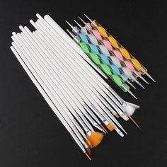 20pcs Nail Art Design Dotting Detailing Drawing Polish manicures Brushes Set Hot Professional Makeup Brush Set