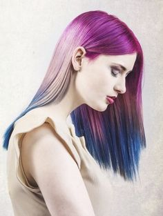 Unique Ways to Color Your Hair Funky Hairstyles For Long Hair, Latest Hairstyles, Straight Hairstyles, Cool Hairstyles, Long Hair Styles, Blonde Hairstyles, Hairstyles 2016, Color Your Hair, Dye My Hair