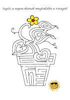 Fejlesztő Műhely: Feladatlapok Activities For Autistic Children, Worksheets For Kids, Symbols, Letters, Album, Speech Therapy, Perception, Maths, Archive