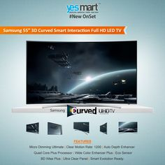 """Get the Best Picture #Quality with #Samsung's latest 55 inch """"#Curve TV from #YesMart that takes your viewing experience to another level of immersive realism. Visit your nearest #YesMart store to believe it. For more info Visit – www.yesmart.in"""