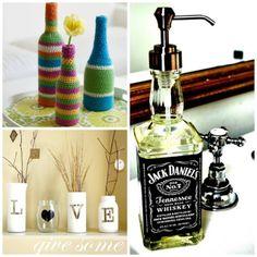 Blog Ela é Criativa: DIY: Decoração com garrafas e potes de vidro!