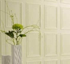 This Panel Effect Wallcoverings Has A Repeat. Apply And Paint Instead Of  Real Wood Paneling.