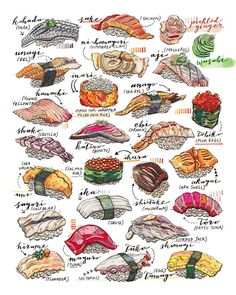 Print Nigiri poster.  Signed in pencil on the back.    Printed on Epson Velvet Fine Art paper