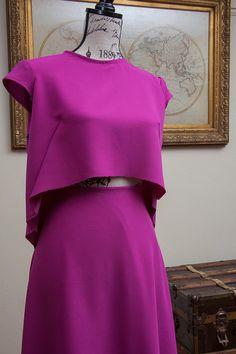 Magenta Midi Skirt Two-piece Set by StyledbyRetinella on Etsy