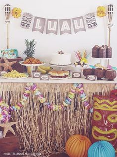 Hawaiian Luau right at home.