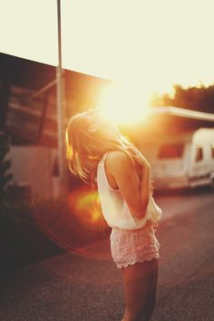 summer sunset x pink shorts :: #fashion #photography